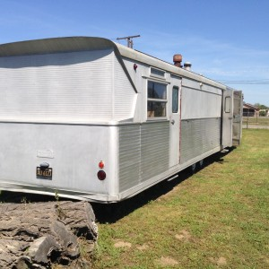 In trailer terms, this is a mansion. A little elbow grease and it will shine like a fresh Mercury dime.